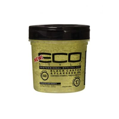 Ecoco Gel Black Castor & Flaxseed Oil Professional Styling 473ml